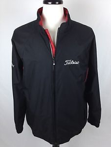 FootJoy Jacket Titleist Black DryJoys Full Zip PGA Golf Mens Athletic Track L | eBay