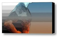 Man layers II - graphics, modern art, figurative shape
