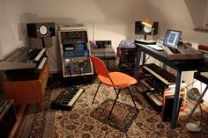 The Analog Roland Orchestra's studio