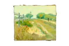 View Depicts a man walking along a road on a sunny day By ; oil on canvas; Access more artwork lots and estimated & realized auction prices on MutualArt. European Paintings, Fine Art Auctions, Sunny Days, Oil On Canvas, Landscape, Artwork, Walking, American, Inspiration