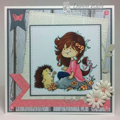"""High Hopes Stamps: Card by Donna using """"Blooming Friends"""" (TT031)"""