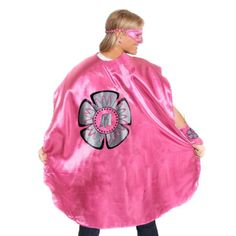Adult Pink Superhero Costume with Black Flower - click to get yours right now!
