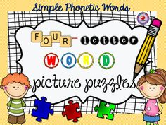 this set of 72 four letter word puzzles are a great way for your students