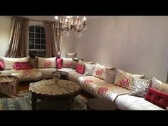 Living Dining Room, Decor, Living Room, Home, Couch, Sectional Couch, Moroccan Living Room, Home Decor, Room