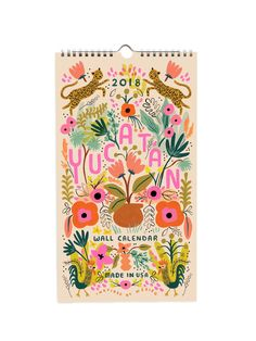 Rifle Paper Co 2018 Yucatan calendar