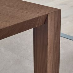 Rectangular walnut table BLADE by poliform