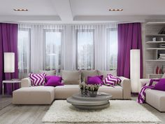Living Room Living Room Decor, Living Spaces, Living Rooms, Best Home Interior Design, Decoration, New Homes, House Design, Architecture, Curtains Living