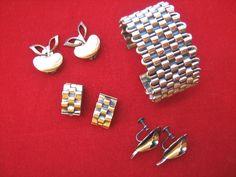 Vintage Matisse Renoir copper jewelry lot bracelet and 3 pairs of earrings #MatisseRenoir