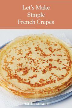 Easy Crepe Recipe, Crepe Recipes, Tea Recipes, Brunch Recipes, Breakfast Recipes, Cooking Recipes, Lithuanian Recipes, Portuguese Recipes, Recipes