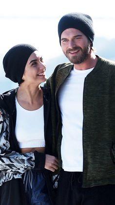 Tuba Buyukustun and Kivanc Tatlitug in Cesur ve Guzel, the Turkish TV series, 2016-2017.