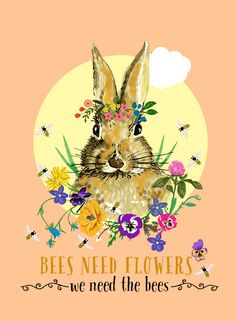 """""""bees need flowers"""" by Elisandra, April 2015"""