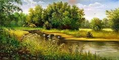 country landscape paintings - AOL Image Search Results
