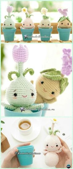 Crochet Amigurumi Spring Bulb Flower Doll Free Pattern - Crochet Doll Toys Free Patterns