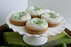 Key Lime Cream Cheese Frosted Cake Doughnuts