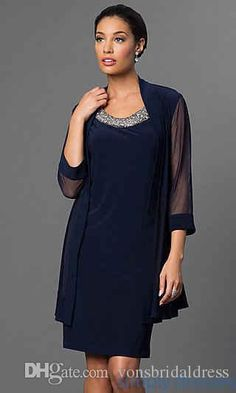 Dark Navy Chiffon Suit Mother Of The Bride Dresses Knee Length Vintage New Arrival Promotion Mother'S Day Dresses Joan Rivers On Joan Rivers Rivers From Vonsbridaldress, $103.56  Dhgate.Com