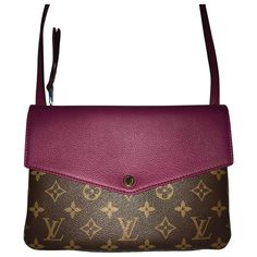 REALLY NEW NEW pochette Louis Vuitton Model:TWICE Colori: Aurore in monogram canvas + violet leather !! NEW new new