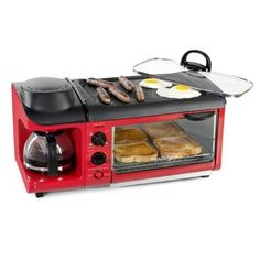 Cool Kitchen Gadgets, Cool Kitchens, Cool Gadgets To Buy, Toaster Ovens, Future House, Breakfast Station, Breakfast Meat, Camping Breakfast, Camping Accessories