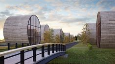 Цилиндрические дома от Do Architects.