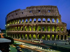 The Colosseum, originally the Flavian Amphitheatre, is an elliptical amphitheatre in the centre of the city of Rome, Italy, the largest ever built in the Roman Empire. It is considered one of the greatest works of Roman architecture and Roman engineering.