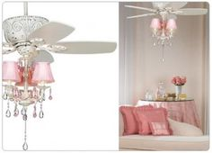 love the ceiling fan with chandelier- would change the shades