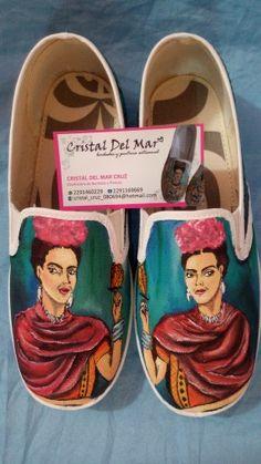 Tenis personalizados pintados a mano de Frida Kahlo 100% lavables