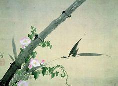 Hokusai : Bambus und Windenblüten. © Katsushika Hokusai Museum of Art