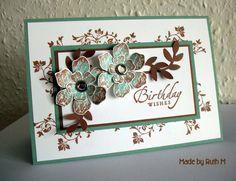 Flower Sparkle: SU! Workshop Sage & Cocoa Birthday Wishes Card