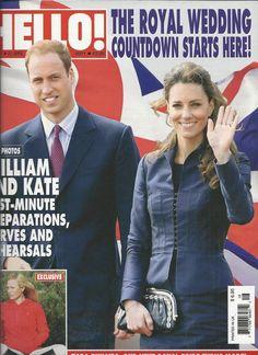 Hello magazine Kate Middleton Prince William Zara Phillips Simon Cowell