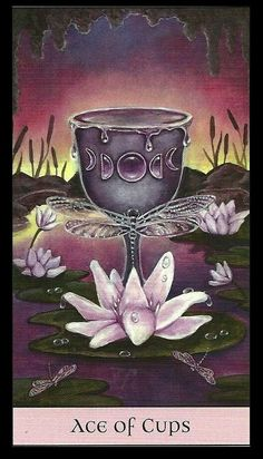 Crystal Visions Tarot Deck Art   Ace of Cups   Oracle Cards   Divination