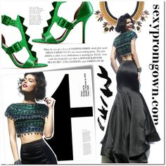 Sexy Prom Gown #1 by makingastatement on Polyvore featuring Sherri Hill, Moschino Cheap & Chic and sexypromgown