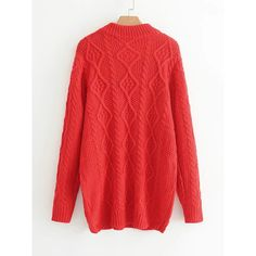 Cable Knit Sweater Dress ❤ liked on Polyvore featuring dresses, sweater dress, cable dress, cable sweater dress, cable knit sweater dress and red sweater dress