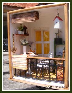 My tiny world: Dollhouse miniatures: Mediterranean balcony - Gallery