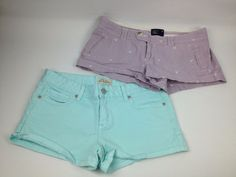 Juniors Shorts Size 5/6 Womens Lot Of 2 Pairs Aeropostale American Eagle Summer #AmericanEagleAeropostale
