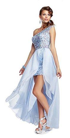 Mori Lee Paparazzi 95054 One Shoulder Prom Dress, Powder Blue, 10