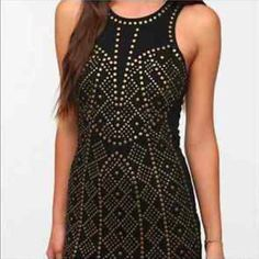 Sparkle & Fade Gold Studded Bodycon Dress