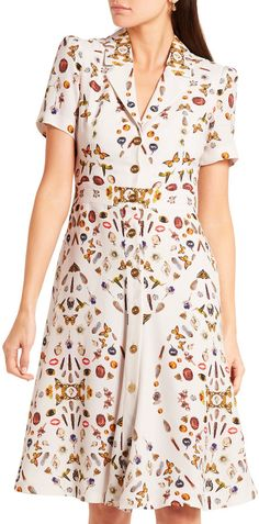 Shop for Obsession printed crepe dress by Alexander McQueen at ShopStyle. Middle Aged Women, Maria Black, Crepe Dress, Fit And Flare, Designer Dresses, Casual, Looks Great, Alexander Mcqueen, Cozy Outfits