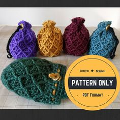 PATTERN: Dice Bag Dragon Egg crochet by GrafficDesignStudio