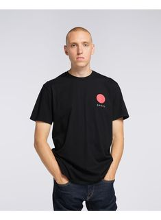 EDWIN was established in Tokyo in this tee featuring a Red Dot over our Japanese logo, it's a great nod to the Land Of The Rising Sun. Item Number: Julius is tall and is wearing Size L. Japanese Logo, Red Dots, Tokyo, Polo Ralph Lauren, Rising Sun, Item Number, Tees, Cotton, Mens Tops