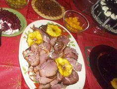 Our delicious HoneyBaked Ham from @The HoneyBaked Ham Company served with Fresh pineapples @Dole Nutrition #ChristmasEveDinner