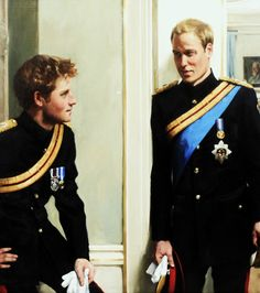 Favourite royal portrait : Dual Portrait of Prince William and Prince Harry by Nicky Philipps