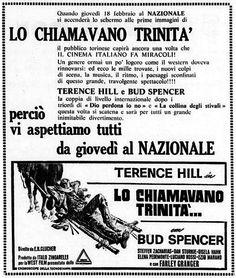 """""""Lo chiamavano Trinità"""" (1970) di E.B. Clucher (Enzo Barboni), con Bud Spencer e Terence Hill. Italian re-release: February 18, 1971 #MoviePosters #WesternMovies #BudSpencer #TerenceHill"""