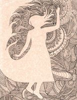 """October,"" free-hand pen and ink #doodle, 9""x12""  http://nintaa.deviantart.com/"