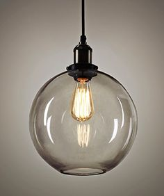 Nostralux® Premium Vintage Glass Industrial Ceiling Light Featuring Deluxe Fabric Cable - NEW 2016 EDITION