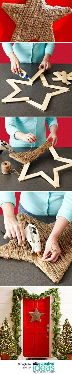 Twine Star Decoration | Stella decorativa realizzata con spago |