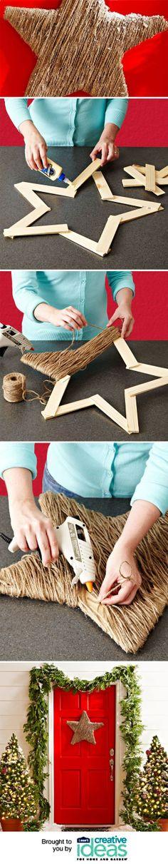 Twine Star Decoration | Stella decorativa realizzata con spago |