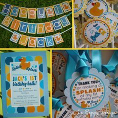 Rubber Duck Birthday Party Decorations Package - Rubber Duckie. $175.60, via Etsy.