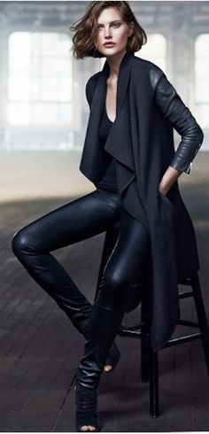 Donna Karan | SS 2014 | Street Chic Coat | Its the attitude of a biker with the luxury of a cashmere sweater.
