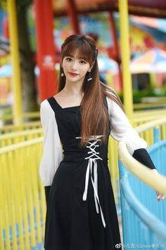 The Nines, China, Kpop Fashion, Kpop Girls, Sexy, Outfits, Color, Black, Youth