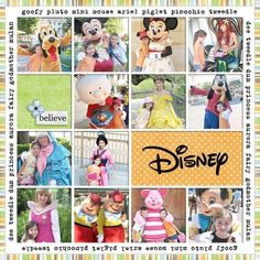 Disney-- love this idea for a page with just the characters you met