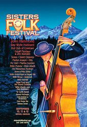 Sisters Folk Festival 2010 poster - by Dennis McGregor Cd Design, Graphic Design, Folk Festival, Festival Posters, Over The Years, Life Is Good, Sisters, Music, Musica